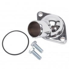 Edelbrock 15 deg Polished Water Neck SBC