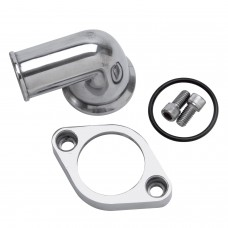 Edelbrock 90 deg Polished Water Neck SBC